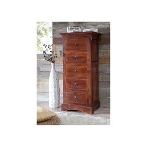 COMMODE DE CHAMBRE Commode-Chiffonier, Bois Massif D'Acacia, Style Co
