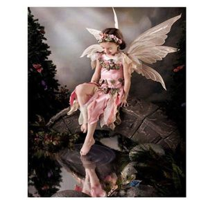 TABLEAU - TOILE multicolore toile - Fille d'ange Peinture décorati