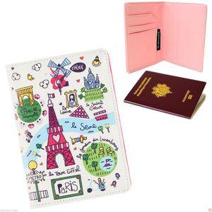 PORTE PAPIERS Protège Passeport PARIS JE T AIME Tour Eiffel - Et cdc7faa6db0