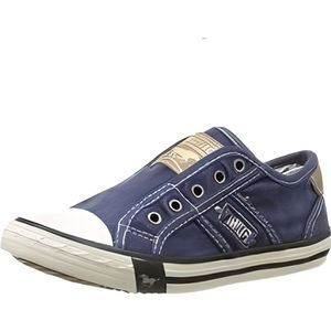 Baskets Basses Jeans Mustang Rouge tHDz1sp