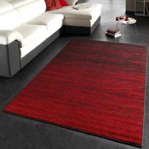Tapis Moderne Rouge 230x320 Cm Achat Vente Tapis Cdiscount