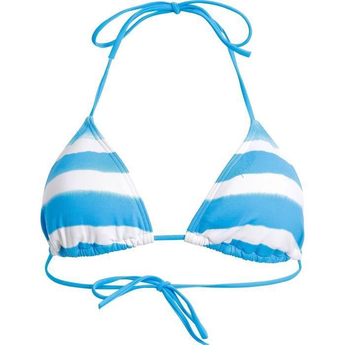 PROTEST Haut de maillot de bain Mm Lea - Femme - Bleu et blanc