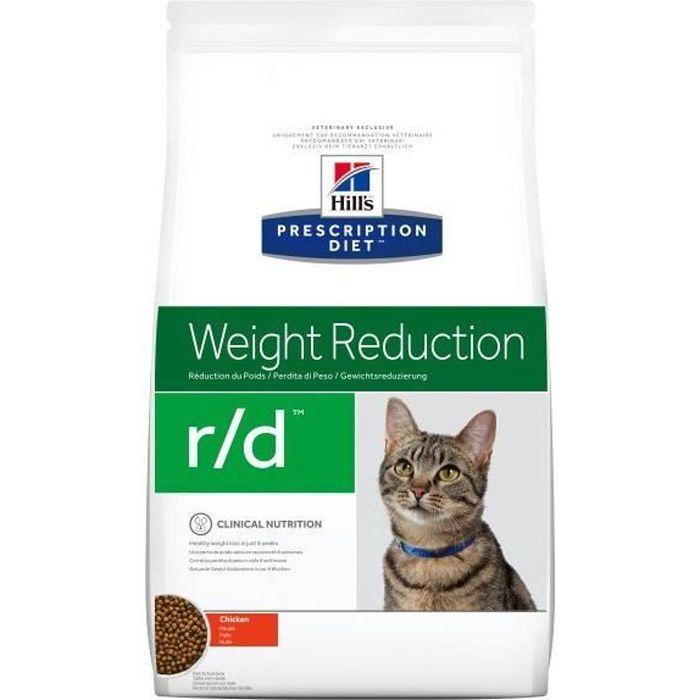 HILLS Croquettes au poulet Weight Reduction - Pour chat obèse - 5 kg.CROQUETTE - NOURRITURE SECHE