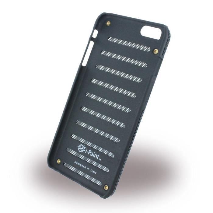 I-PAINT Coque métal iPhone 6P/6SP - Noir