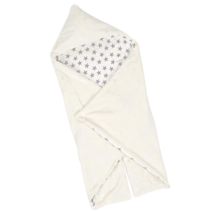 BABYCALIN Couverture Universelle Étoile - Coton et polyester - Écru - 90 x 110 cm