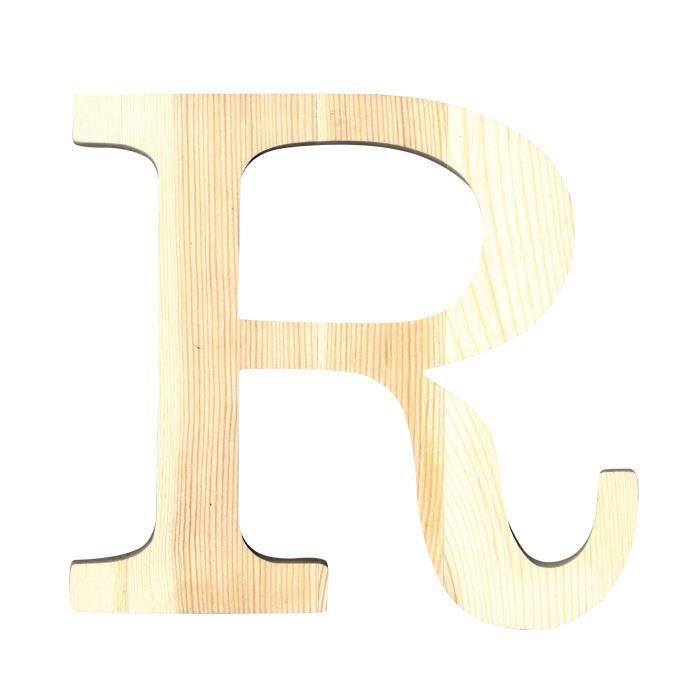 artemio lettre r en bois d coup 19 cm achat vente support d corer lettre r hauteur 19. Black Bedroom Furniture Sets. Home Design Ideas