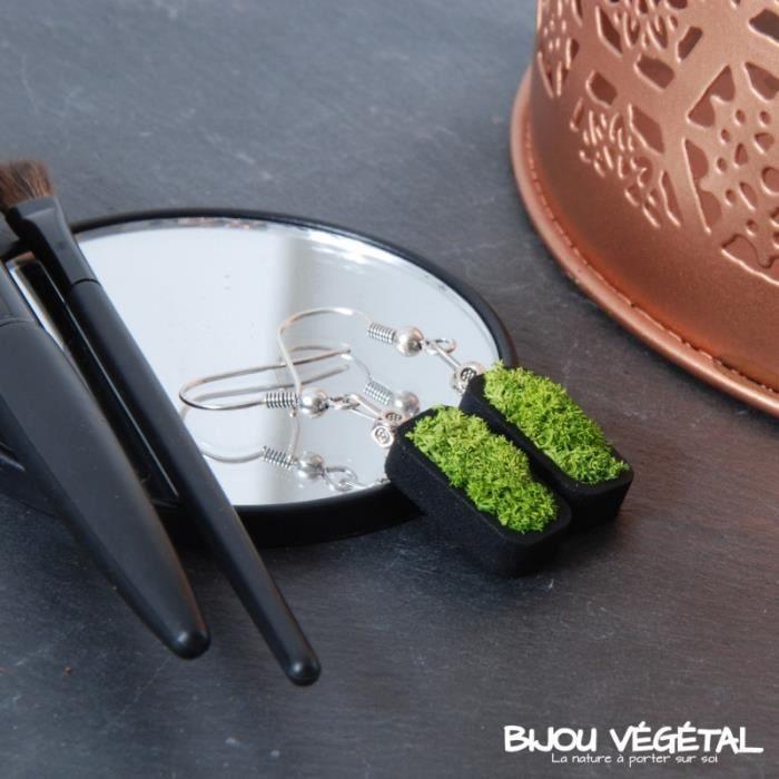 BO couleur noir avec un végétal permanent et stabilisé 0,000000
