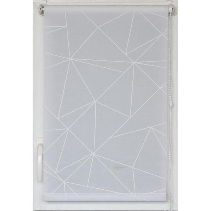 Store enrouleur tamisant Imprimé Géo 45X180cm - Blanc - Achat ...