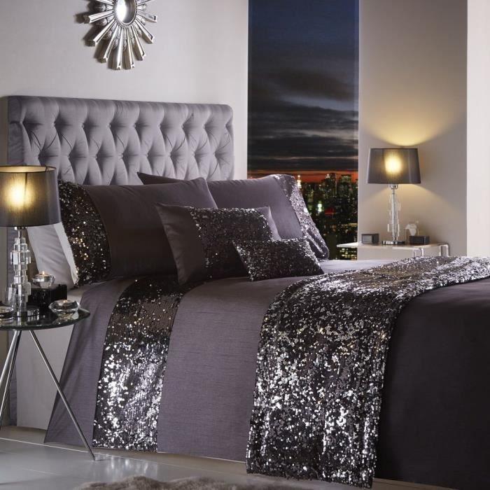 Parure de lit   housse de couette taie d'oreiller   paillettes