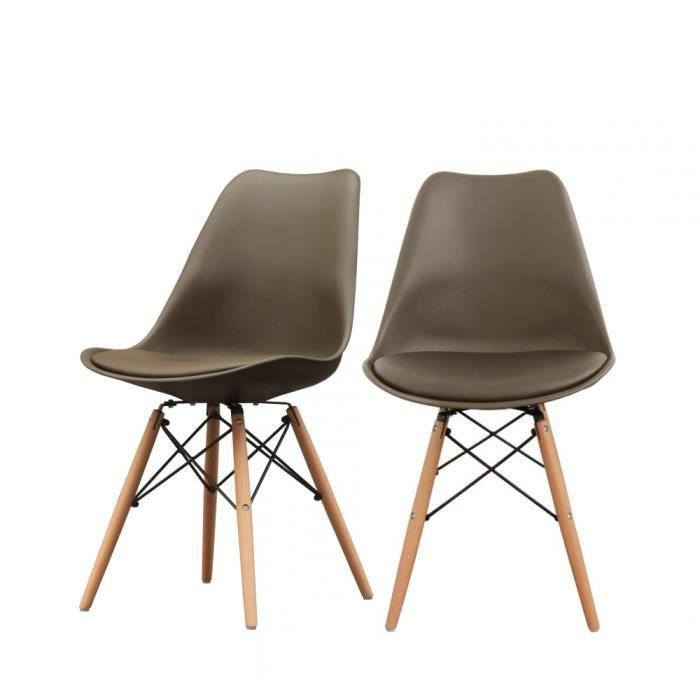 Design Steelwood Ormond Achat Lot De 2 Café Chaises Couleur 0OX8PwNnk