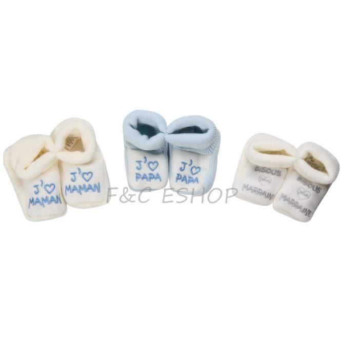 a98b93ad3a05a 3 paires de chaussons naissance pour garcon - Achat   Vente chausson ...
