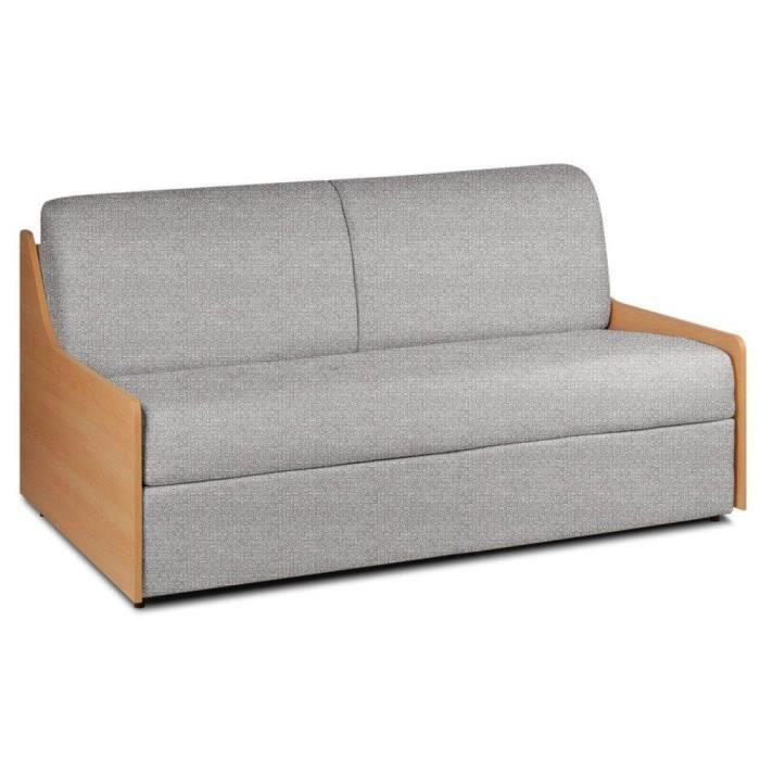 Canapé lit compact 3 places NORMANN 140cm matelas 14cm ouverture ...