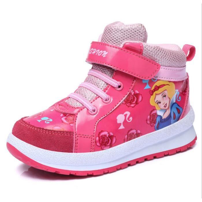 Les chaussures pour enfants Bobbi filles de bande dessinée mode chaussures de sport-rose