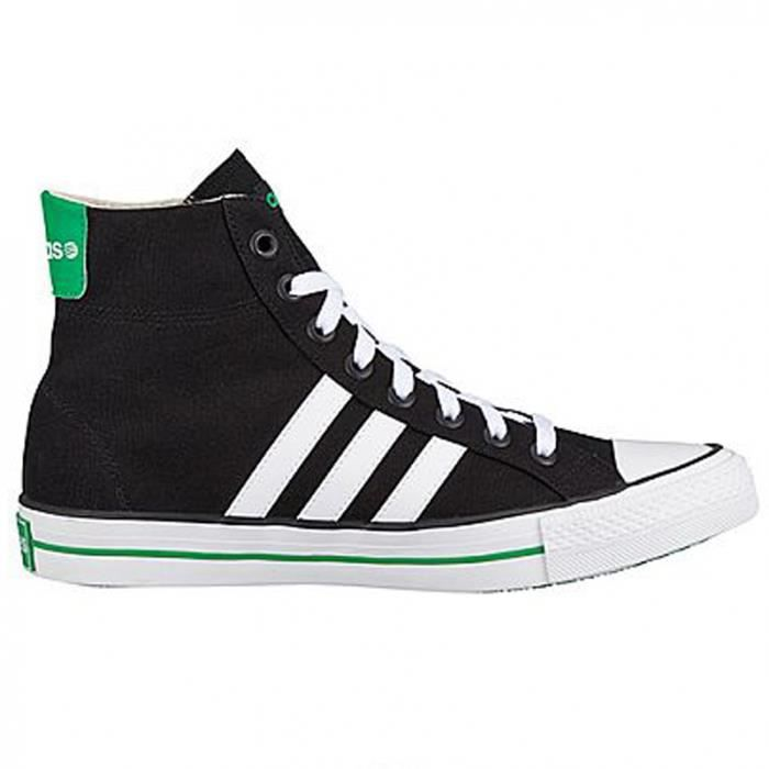 Baskets Homme Vlneo 3 Stripes Basse Neo label White black green
