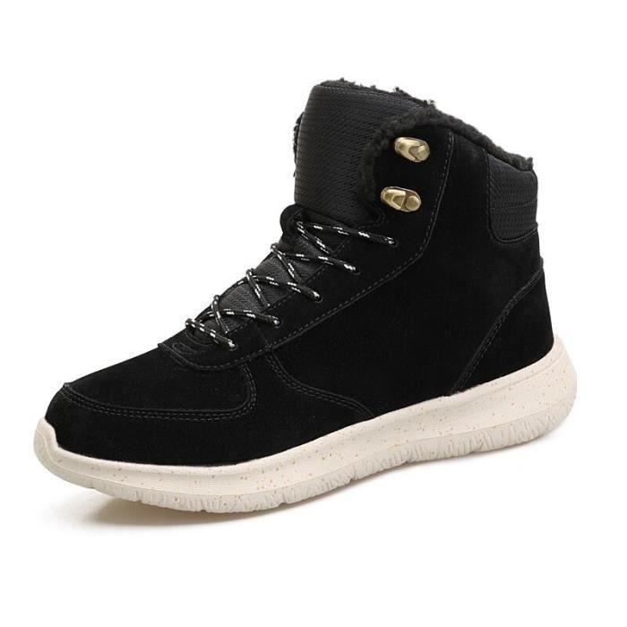 bottines pour homme hiver coton chaussures de luxe de marques hommes 2018 mode Haut qualité Garder au chaud résistantes à l'usure