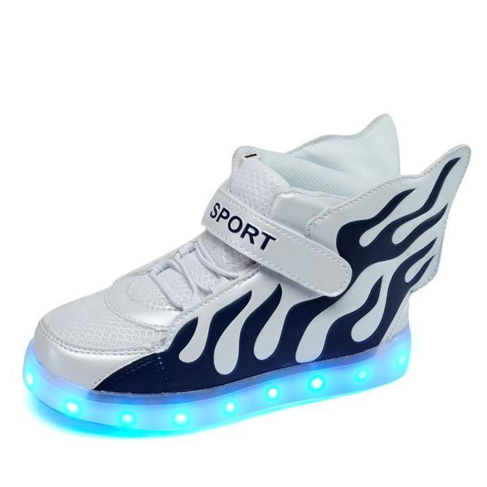baskets baskets 37 chaussures éclairage chaussures pour sport filles taille chaussures enfants flash garçons LED 25 enfants q0wUZ