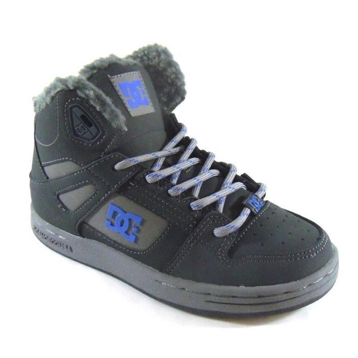DC Shoes Baskets Garçon Montantes Fourrées (27.5 - Médium - gris)