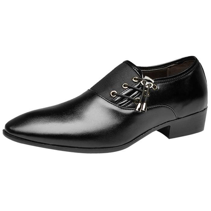 Lace Doublé Hommes Perforé Chaussures Pour Oxfords Up Cuir Noir Classic Modern AqwH6O77