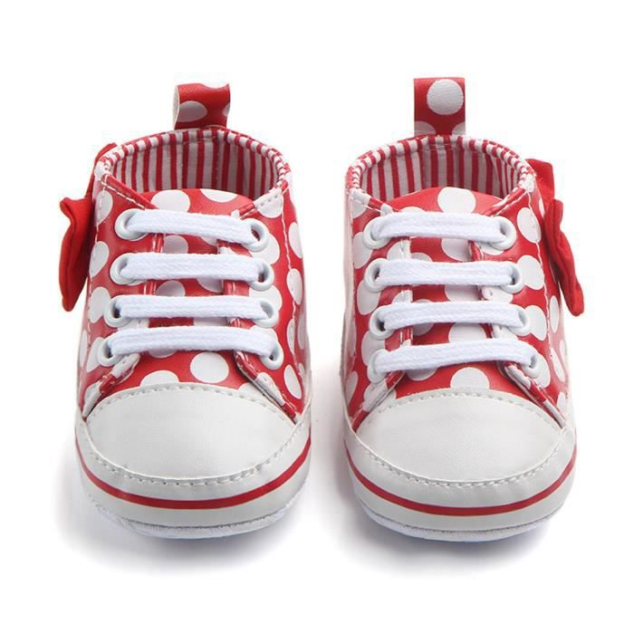 100 Bb Sneaker Anti Lace slip Rouge Bowknot Enfant up Dot Mode Rw Imprimer Chaussures 7Hq7rCT