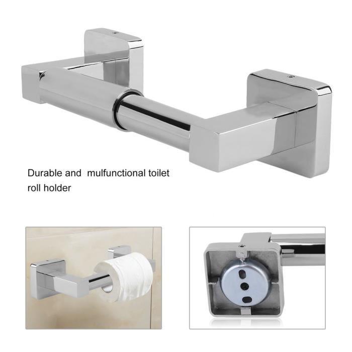 Porte Rouleau Papier Toilette Métal Chromé PoliDérouleur Papier - Porte rouleau papier toilette
