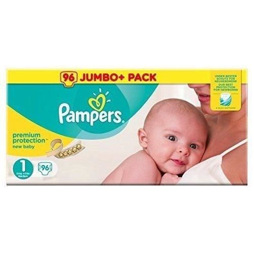 COUCHE PAMPERS Premium New Baby - Taille 1, 2-5KG - 96 co