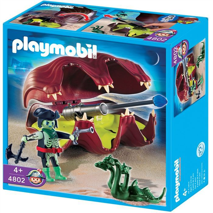 Playmobil pirate fant me et coquillage canon achat - Pirate fantome ...