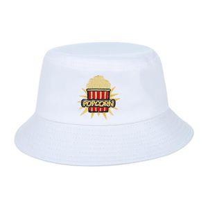 ... CHAPEAU - BOB EOZY Chapeau Bob Femme Homme Visière Plat Blanc Ét ... 838e6d9e05c