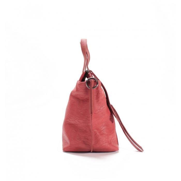 Le Temps des Cerises Sac Cabas Kaori 1 Terracotta Rouge
