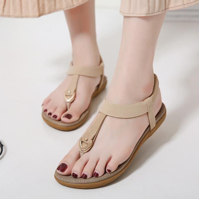 Sandales femme plat nouveau d'été décontracté fond mou
