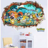 nouveau pok mon best wishes mur autocollant pokemon go 3d. Black Bedroom Furniture Sets. Home Design Ideas
