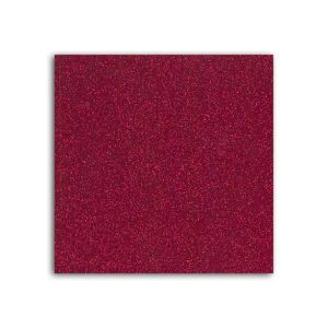 MLLE TOGA Tissu glitter thermocollant - A4 - rouge