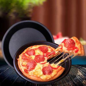 TIRE-BOUCHON Casserole de plat de pizza d'acier au carbone rond