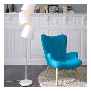 fauteuil bleu scandinave achat vente pas cher. Black Bedroom Furniture Sets. Home Design Ideas