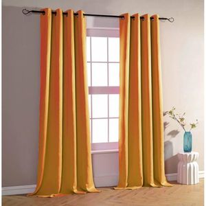 RIDEAU Lot de 2 rideaux occultant orange 140 x 260 cm - 2