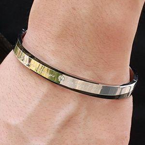 7d1019bce89 Bijoux Acier Inoxydable Bracelet Homme-Femme Pour Les Couple Amoureux  Meilleur Amis Cadeau Saint-Valentin