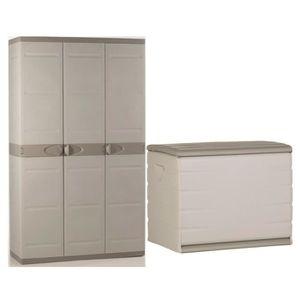 armoire en resine exterieur achat vente armoire en resine exterieur pas cher cdiscount. Black Bedroom Furniture Sets. Home Design Ideas