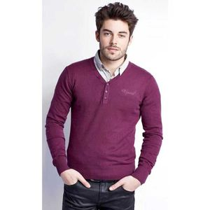 PULL PULL BORAG PRUNE KAPORAL 5 HOMME TAILLE S réf:h14