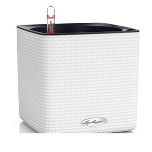 JARDINIÈRE - BAC A FLEUR Lechuza Pot De Fleurs Cube Couleur 16 Blanc