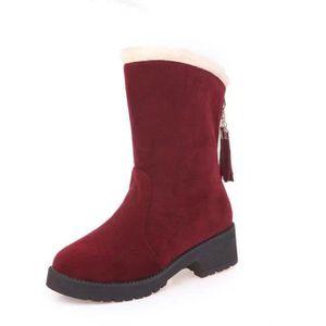 BOTTE bottes de neige plus courte peluche pour les femme