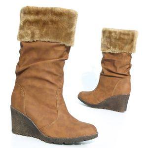 fausse fourrure bottes femmes hiver Boots bottillon camel 39 EXCtPZg6L
