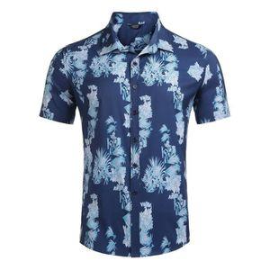 CHEMISE - CHEMISETTE Chemise à fleurs à manches courtes hawaii pour hom
