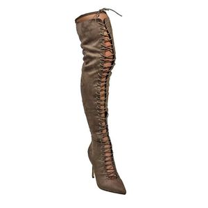 BOTTE Cuissardes à lacets Pointy Bottes Shayla41 3L4TRY