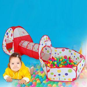 TENTE TUNNEL D'ACTIVITÉ  Tente enfant, piscine à balles + Tunnel