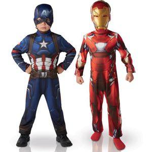 DÉGUISEMENT - PANOPLIE RUBIE'S Déguisement Iron Man et Captain America -