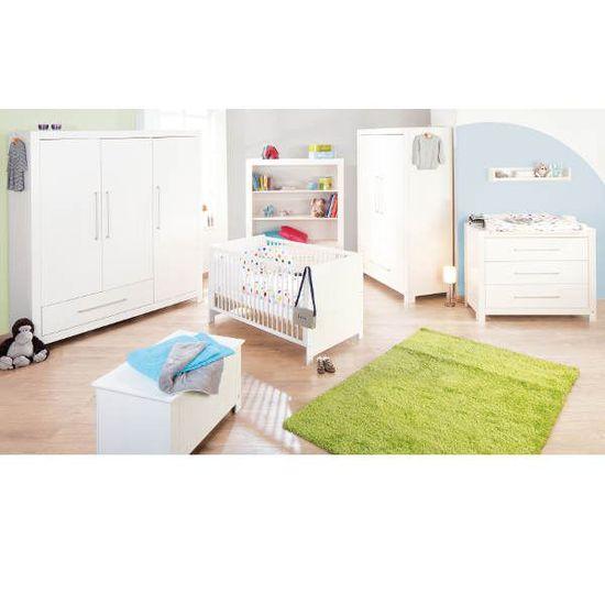 Chambre bébé Puro - massif lasuré blanc - grande - Achat / Vente ...