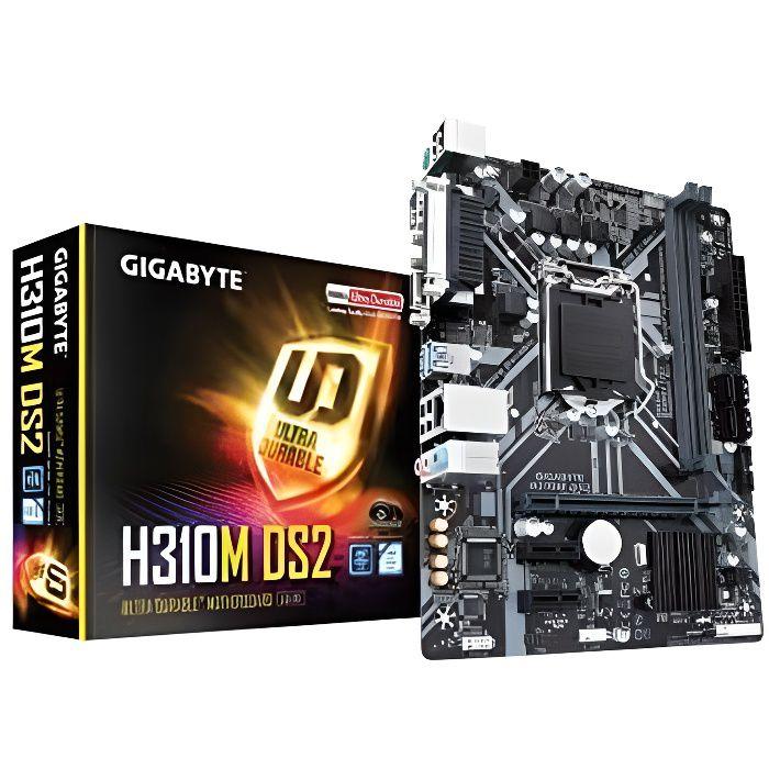 GIGABYTE Carte Mère Gigabyte Ultra Durable H310M DS2 2.0 - Intel Chipset - Socket H4 LGA-1151 - 32 G