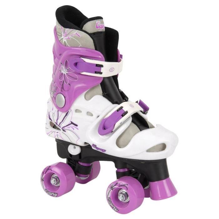 OSPREY Patins à roulettes Quad - Enfant - Blanc, violet et noir
