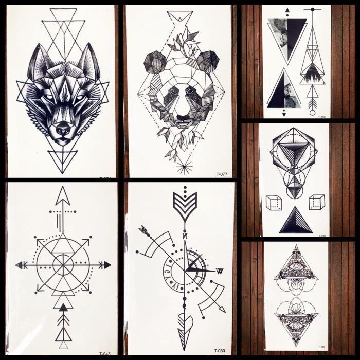tatouage loup geometrique. Black Bedroom Furniture Sets. Home Design Ideas