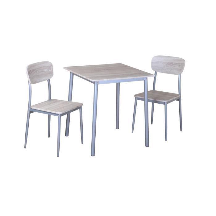 Table cuisine 2 chaises achat vente pas cher - Petite table ovale de cuisine ...