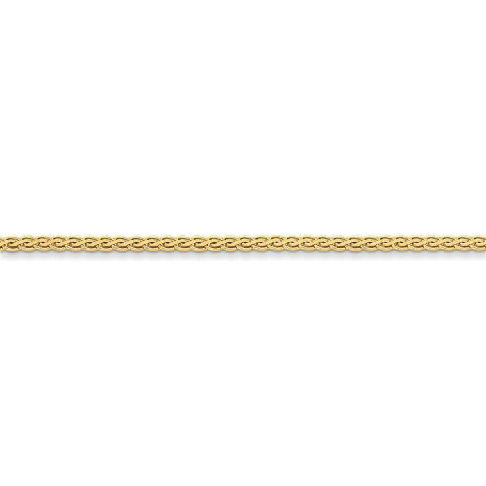 14 carats 3 mm Collier de chaîne de blé - 18 cm-pince de homard